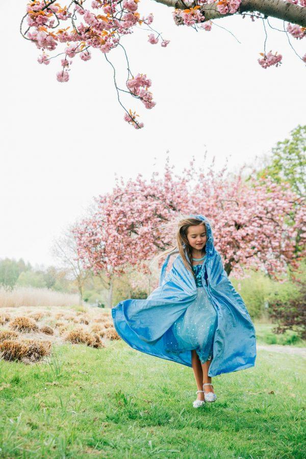 blauwe prinsessencape