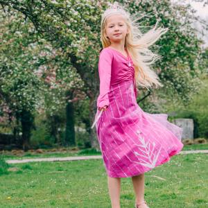 roze elsa jurk